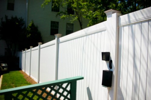 Vinyl Privacy Fencing Vinyl Walk Gate With Keyless Lock